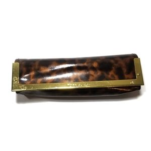 {Tory Burch} Brown Tortoise Glasses Case